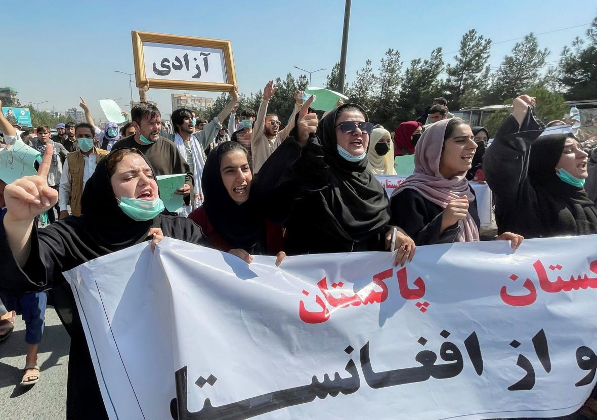 Protest žen v Kábulu