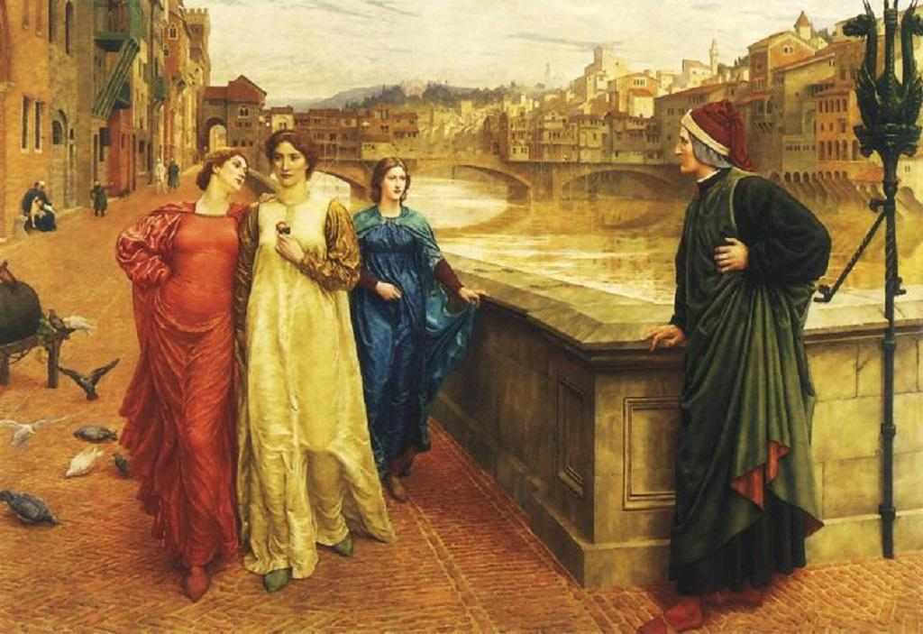 Dante a Beatrice (Henry Holiday, 1883)