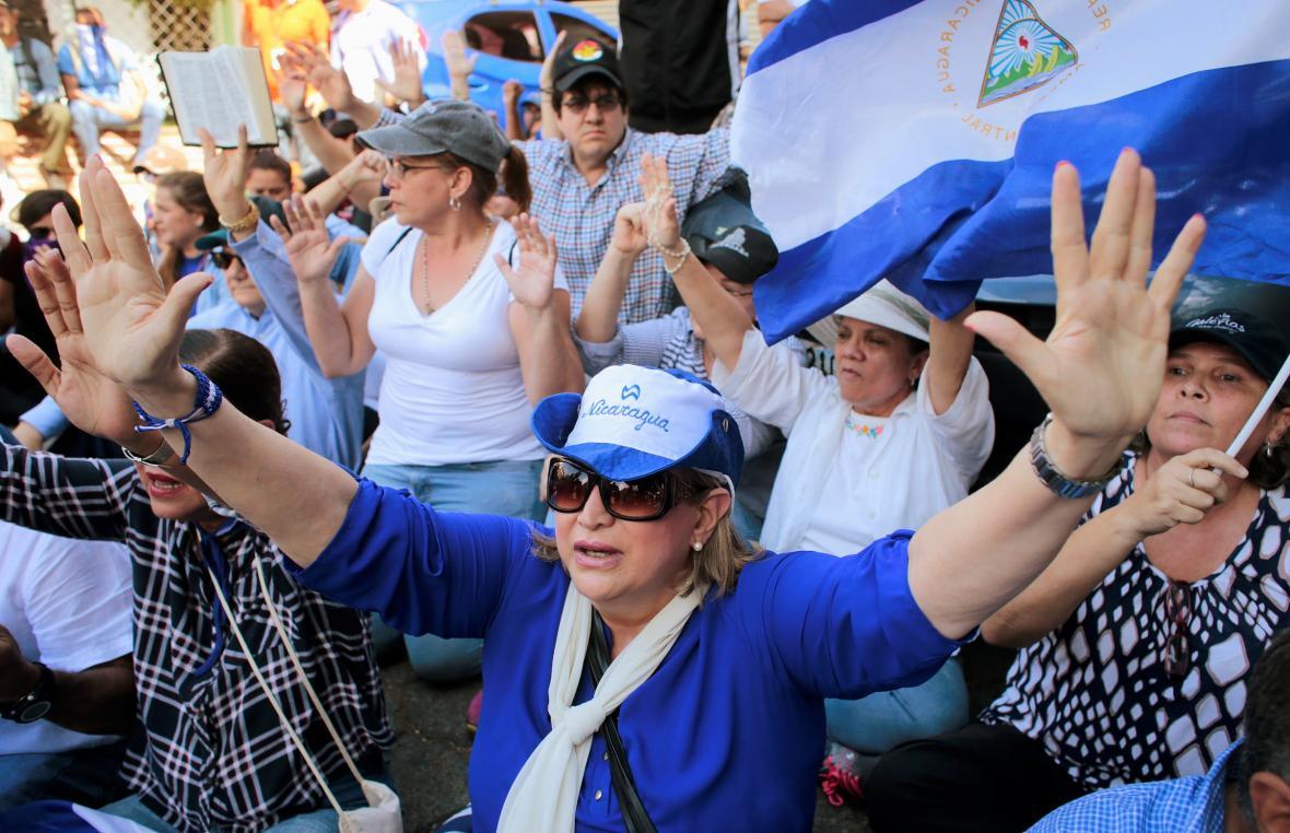 Protesty proti vládě Daniela Ortegy v Nikaraguii v roce 2019