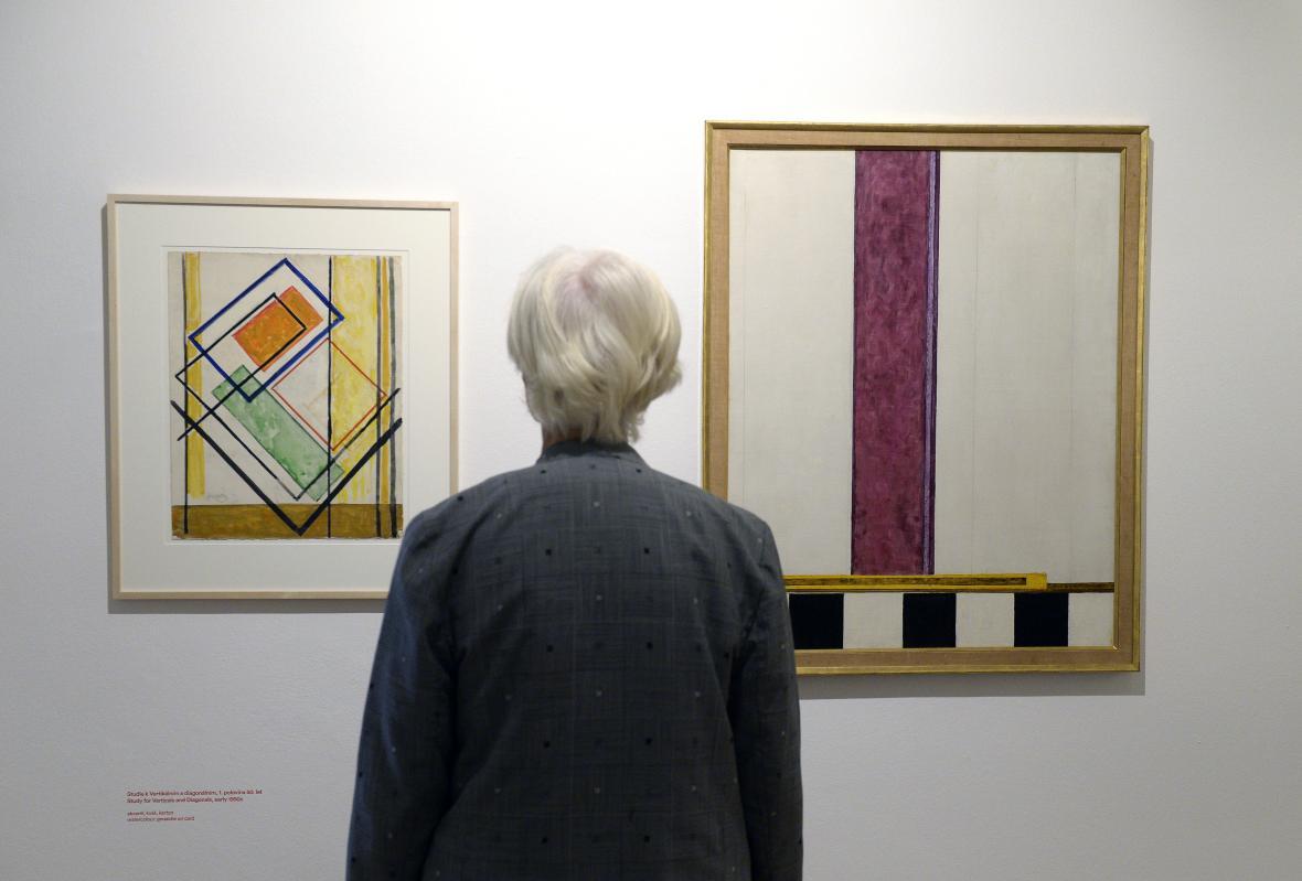 Díka Františka Kupky na výstavě v Museu Kampa