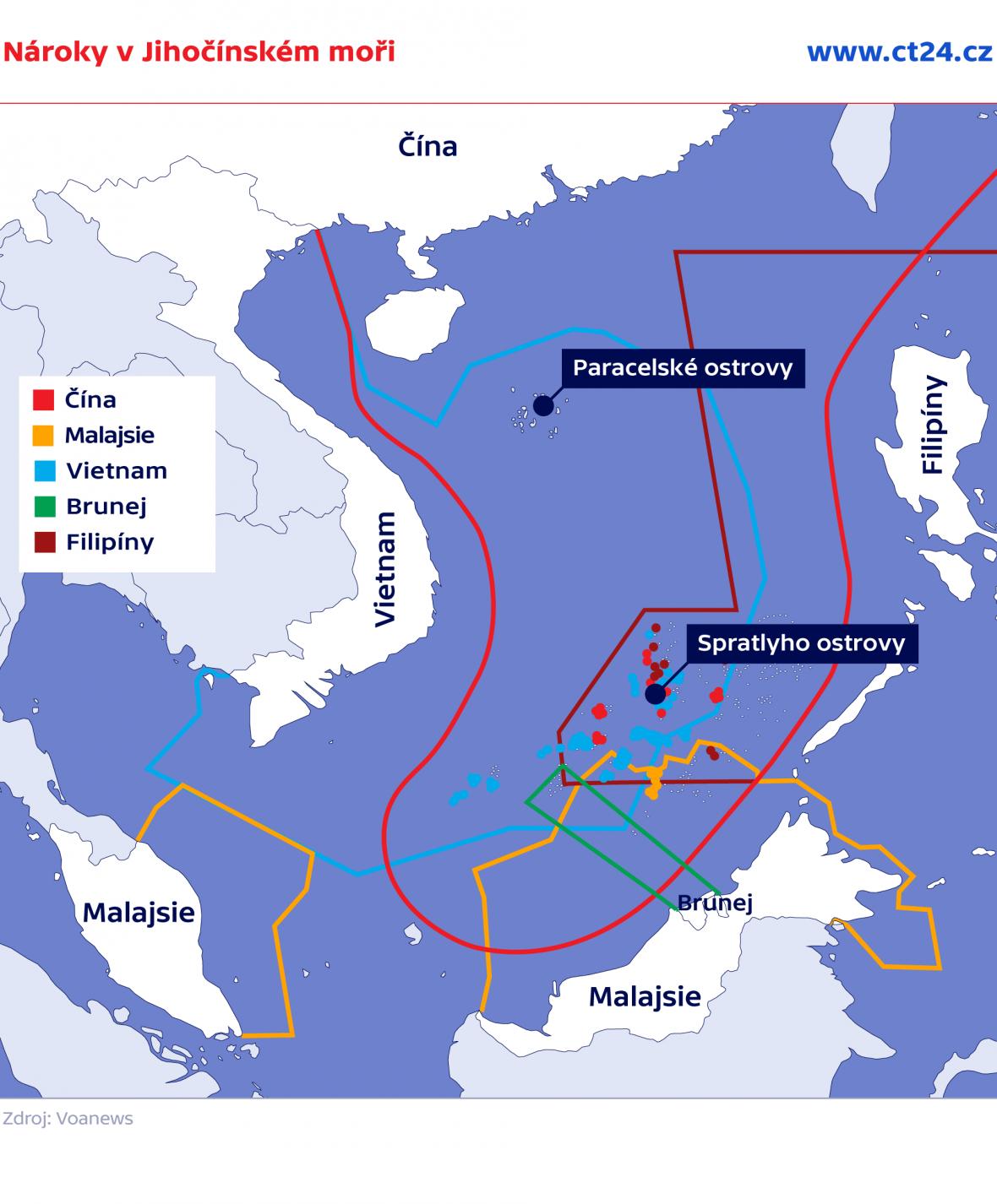 Nároky v Jihočínském moři