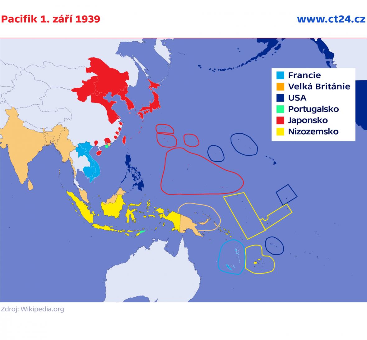 Pacifik 1. září 1939