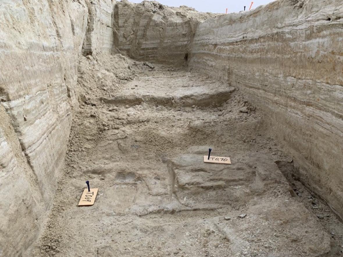 Místo, kde byly stopy objevené