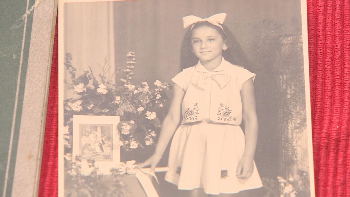 Manuela Valentová jako dítě