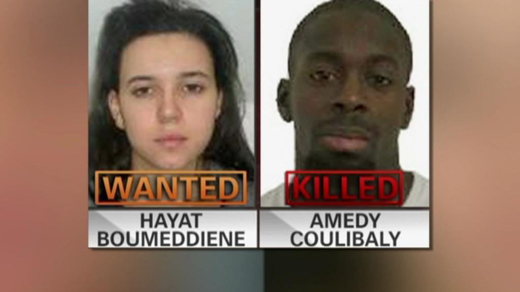 Amédy Coulibaly s hledanou přítelkyní Hayat Boumeddienovou