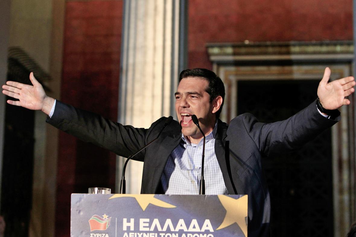 Alexis Tsipras, šéf řecké strany SYRIZA