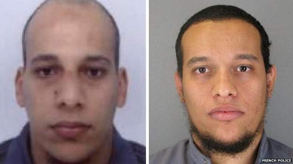 Policie zveřejnila fotky Chérifa (vlevo) a Saida Kouachiových