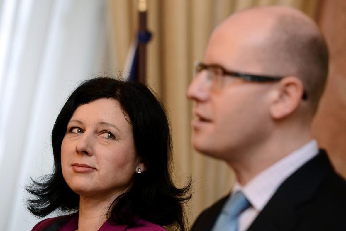 Věra Jourová a Bohuslav Sobotka