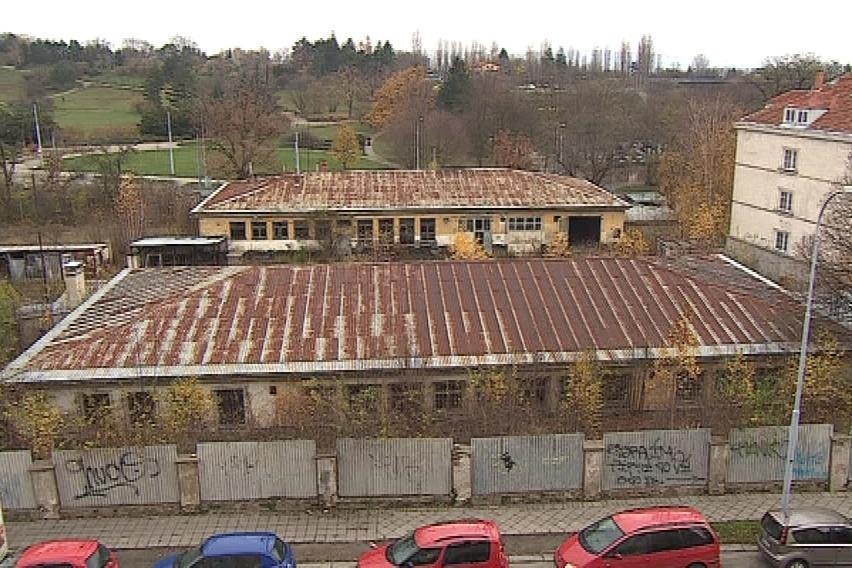 Bývalý vojenský areál na náměstí Míru v Brně