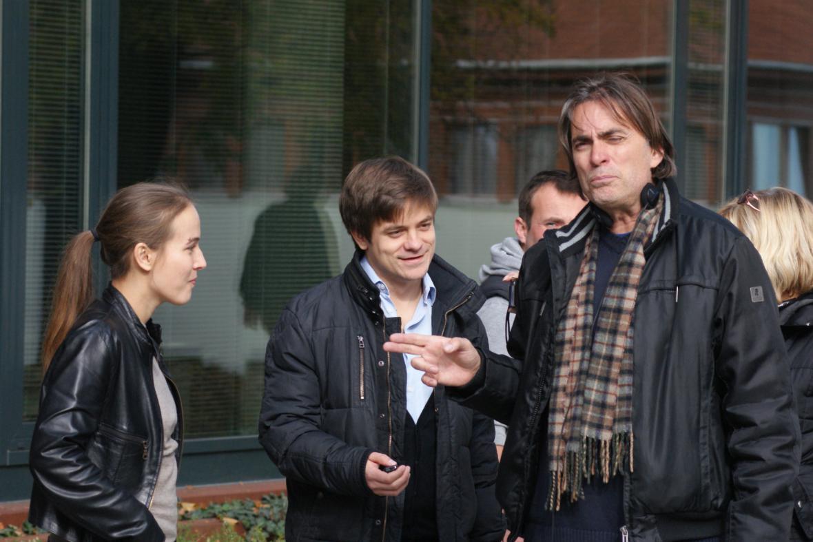 Milan Cieslar s Terezou Voříškovou a Jiřím Mádlem