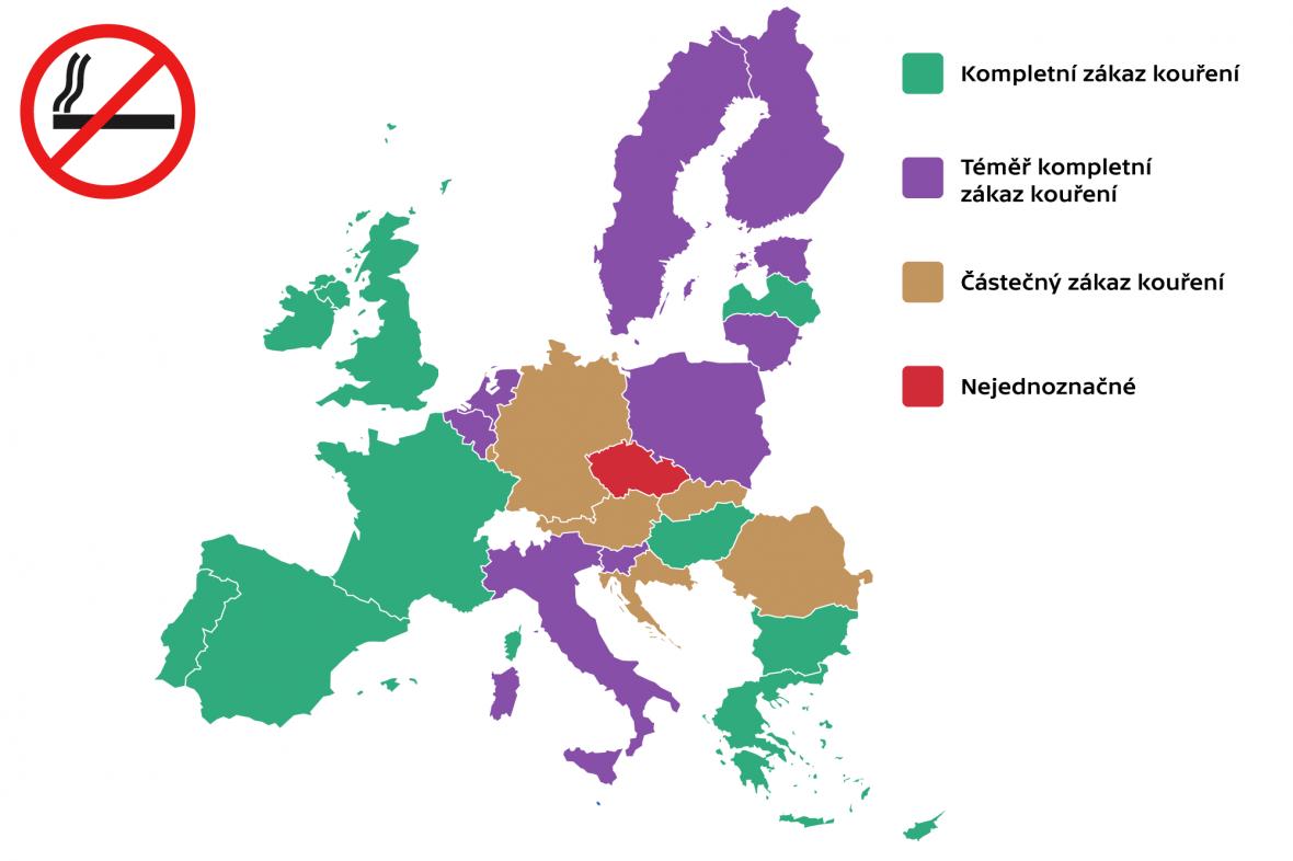 Omezení kouření v restauracích v zemích EU