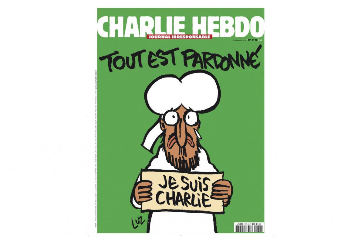 Titulní strana nového čísla magazínu Charlie Hebdo