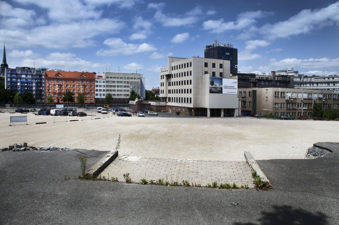 Proluka v centru Plzně