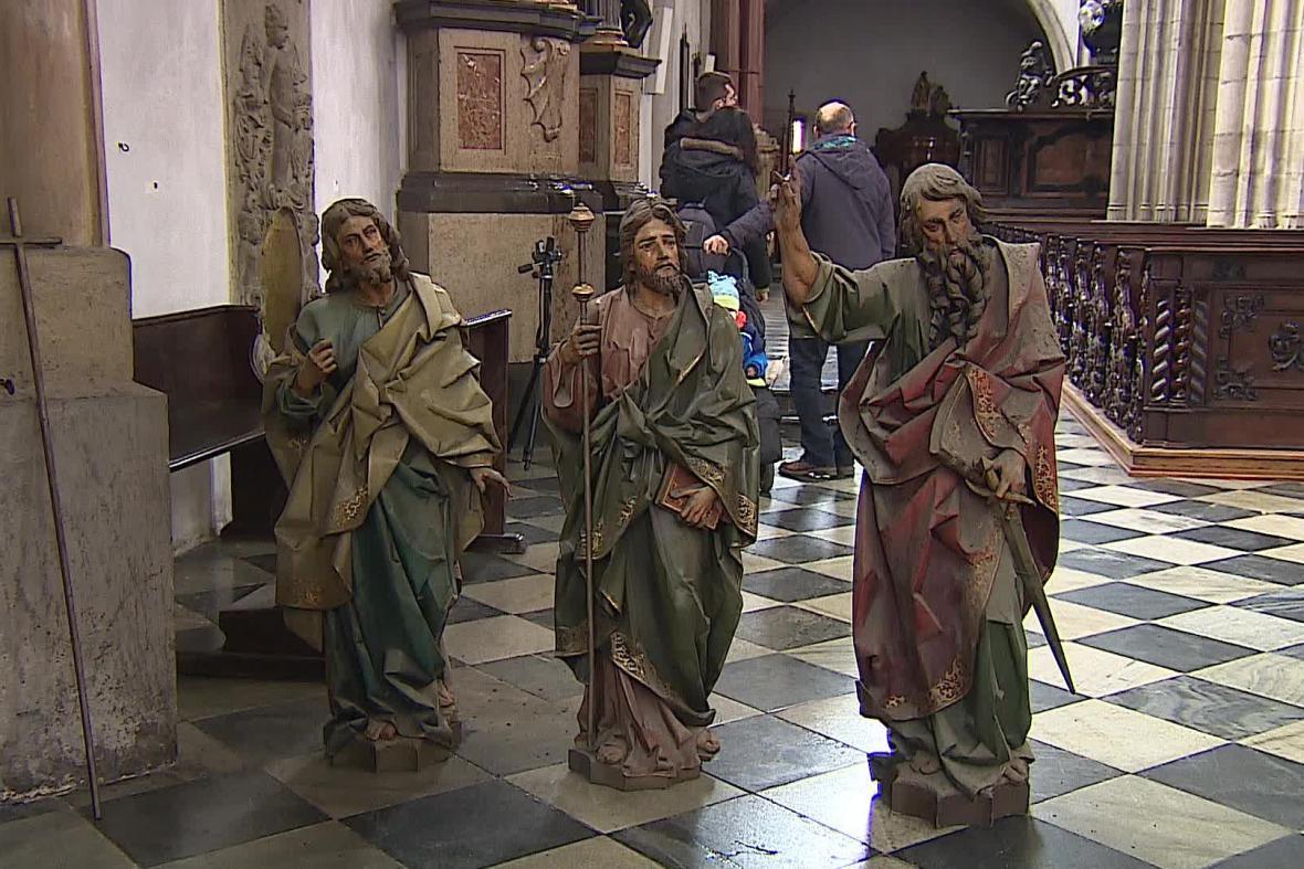Přípravy na rekonstrukci kostela sv. Jakuba v Brně