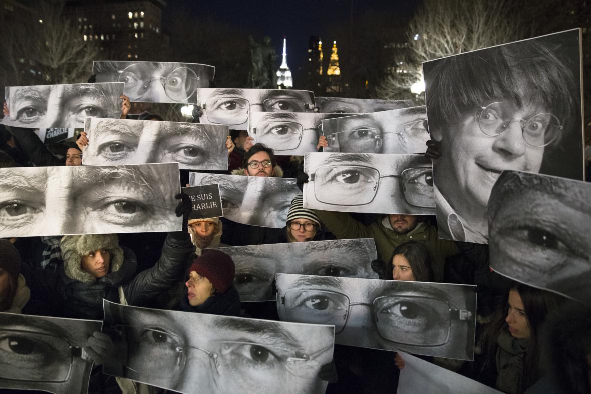 Pieta za Charlie Hebdo v New Yorku