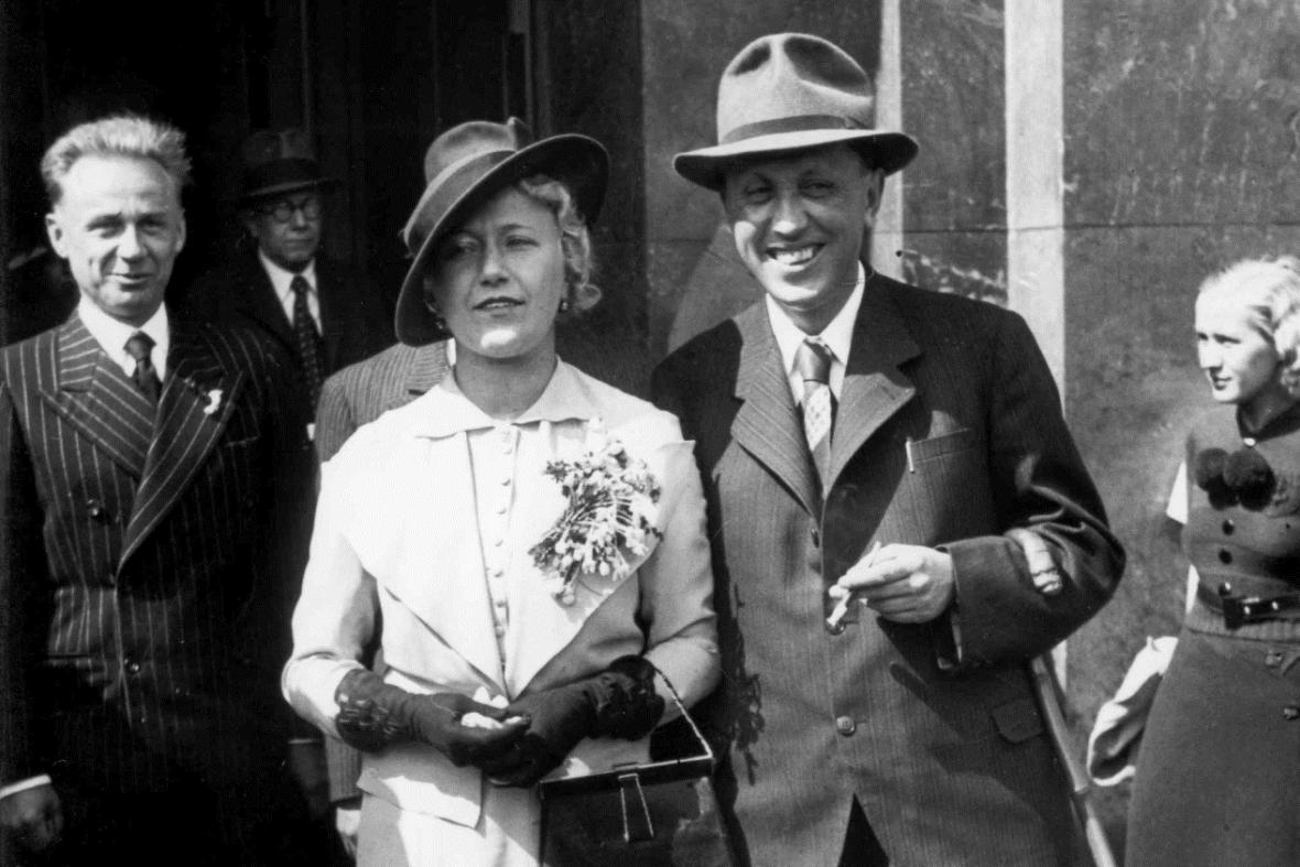 Svatba Karla Čapka s Olgou Scheinpflugovou