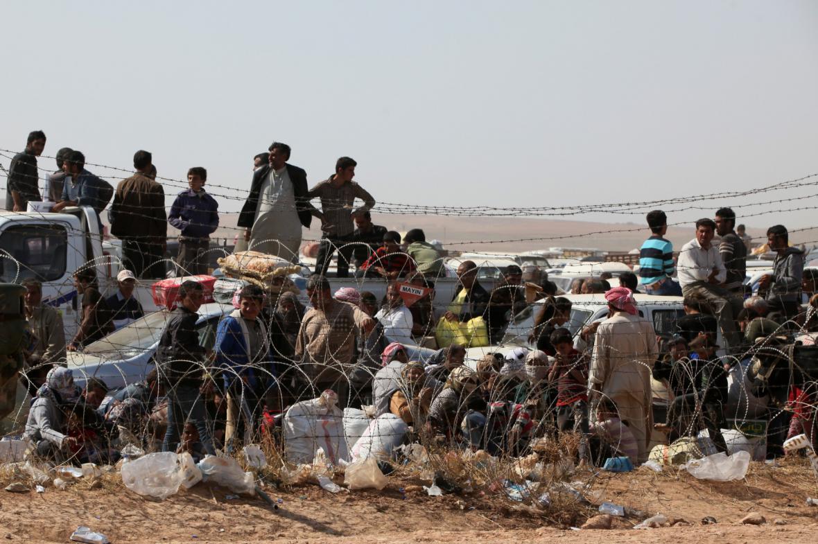 Uprchlíci z Kobani