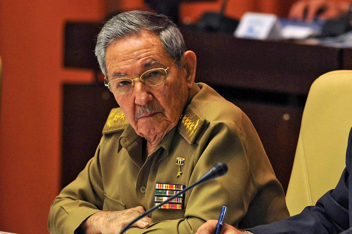 Raúl Castro na zasedání kubánského parlamentu