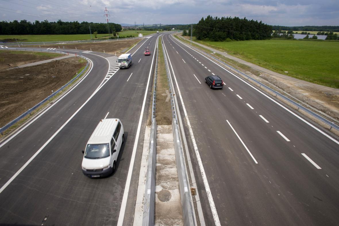 Zprovozněný úsek dálnice D3