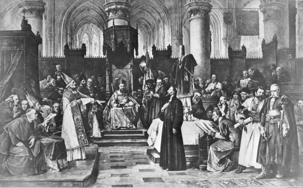 Václav Brožík / Mistr Jan Hus v Kostnici