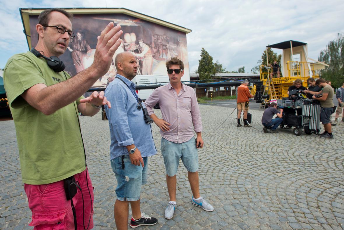 Petr Zelenka při natáčení filmu Ztraceni v Mnichově