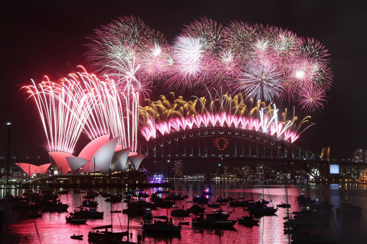 Australské Sydney vítá rok 2015