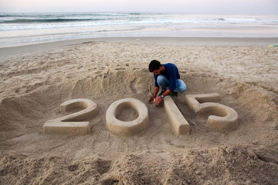 Čekání na rok 2015 v Pásmu Gazy