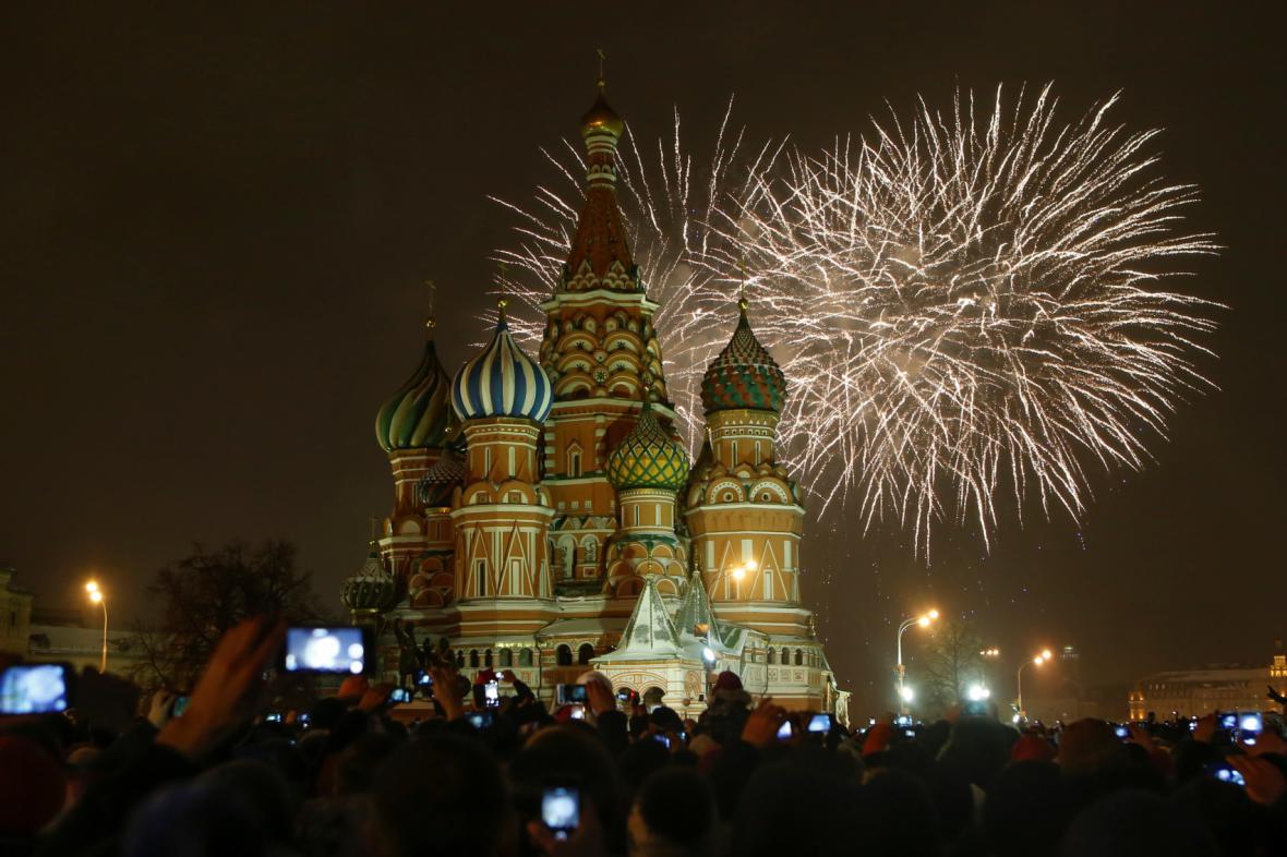 Moskva vítá rok 2015