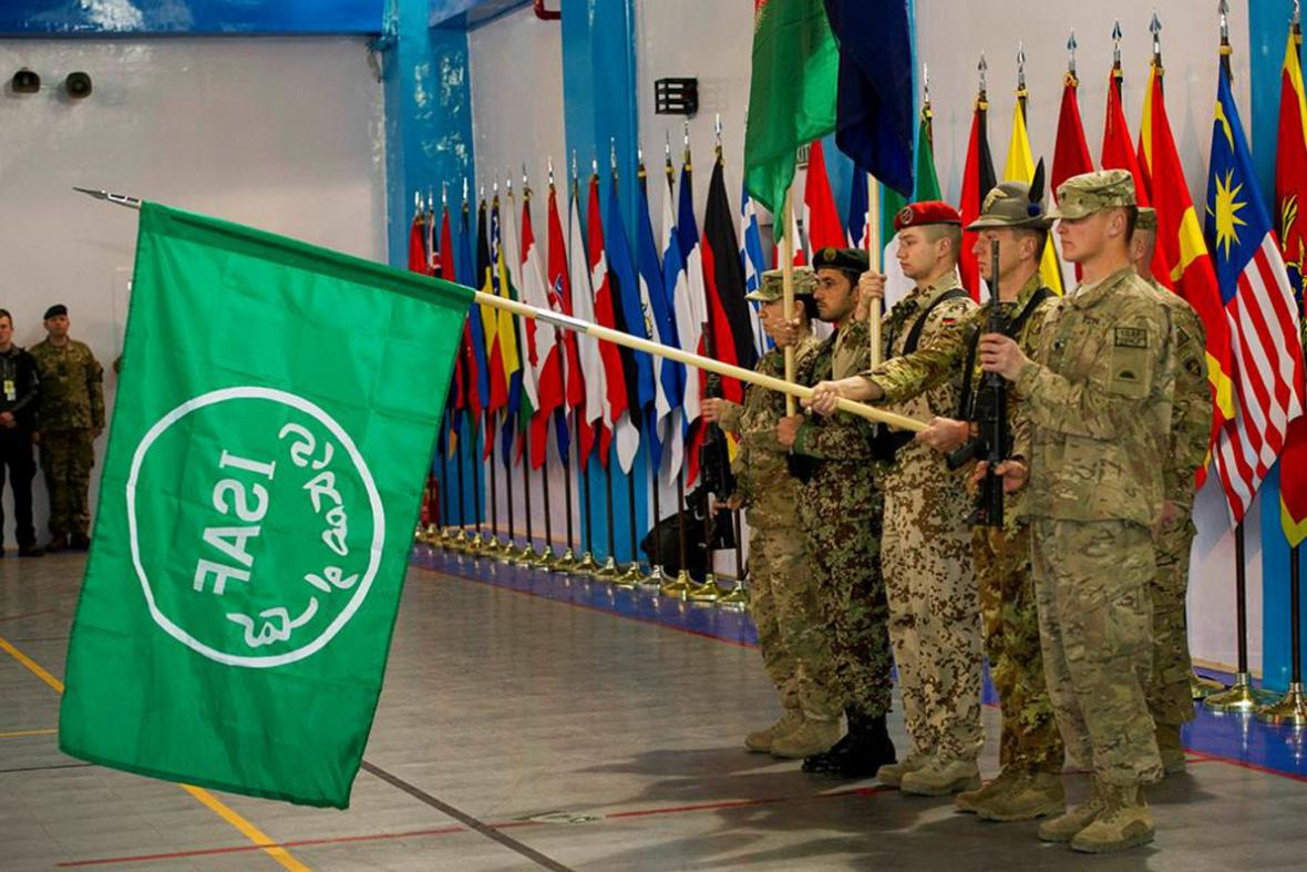Ceremoniál k ukončení mise ISAF v Afghánistánu