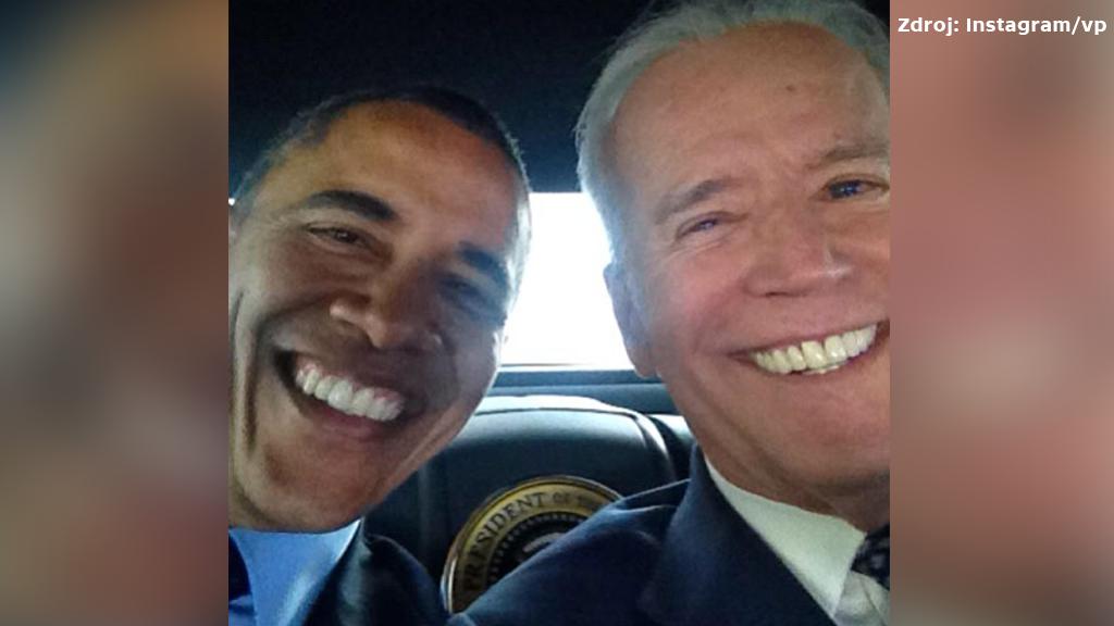 Selfie Baracka Obamy s Joem Bidenem