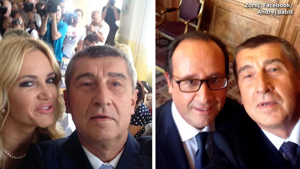 Selfies Andreje Babiše