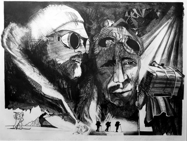 Ze série kreseb Fjodora Koňuchova Mí přátelé v nebezpečí (1986)
