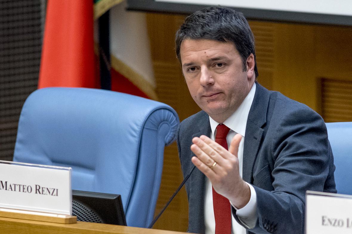 Matteo Renzi na výroční tiskové konferenci