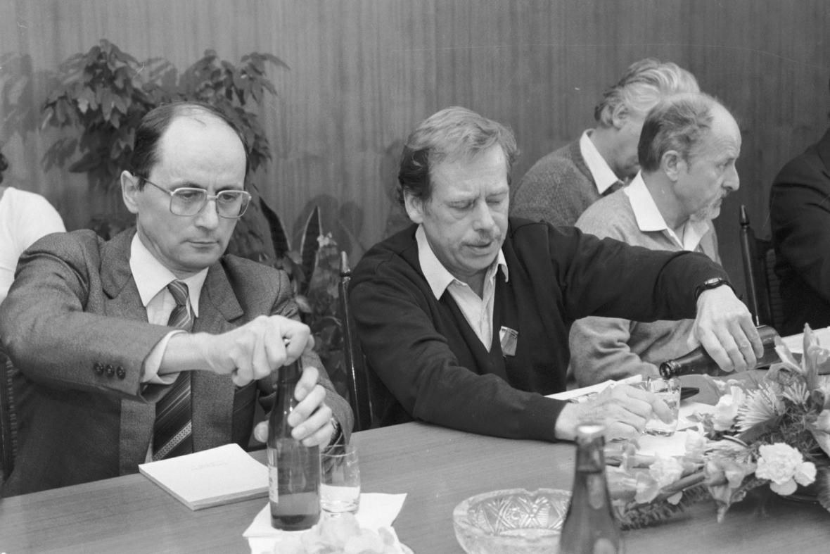Ján Čarnogurský a Václav Havel