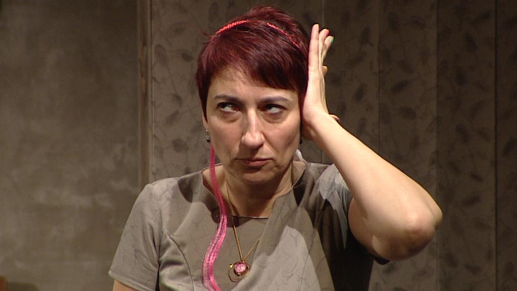 Simona Babčáková v roli autistky Wendy (hra: Kakadu, režisér: Jiří Havelka)