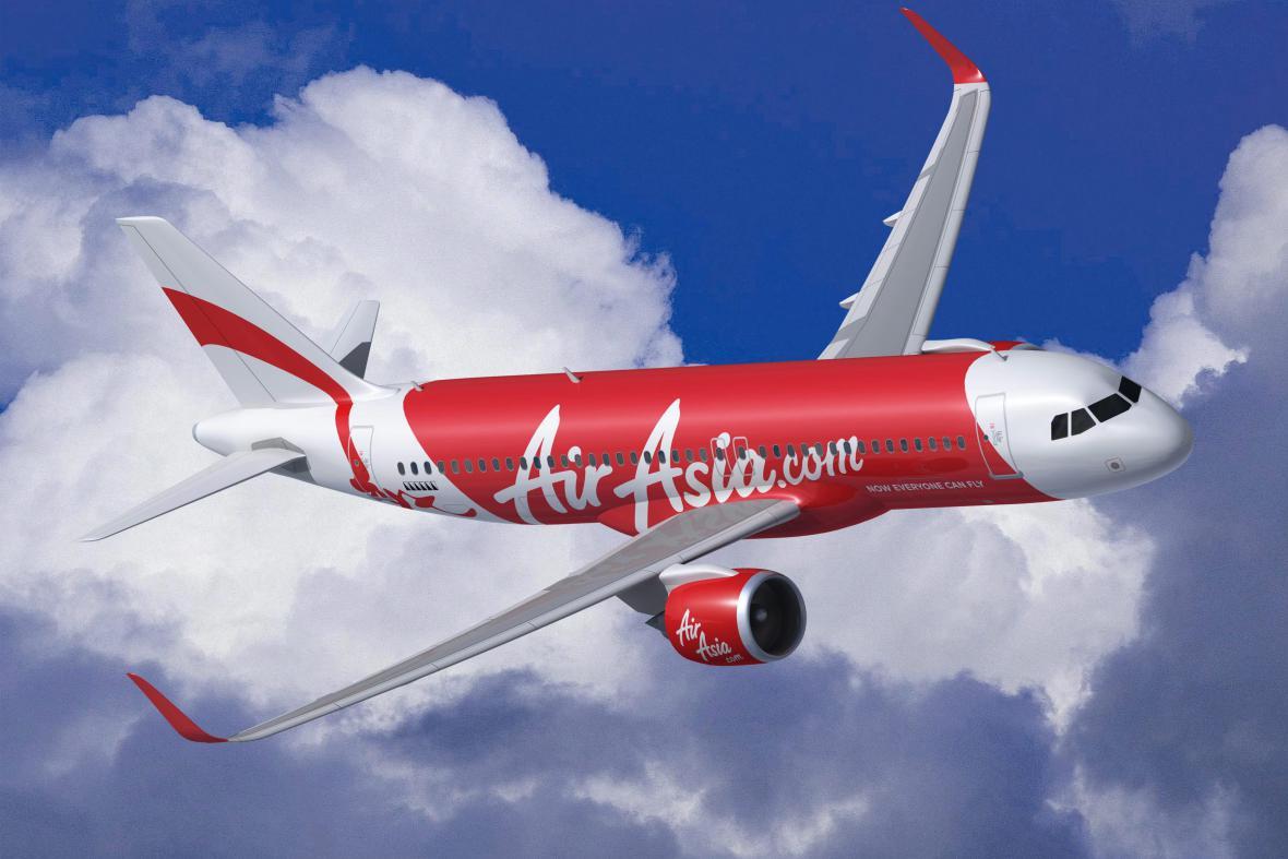 Letoun malajsijské nízkonákladové společnosti AirAsia