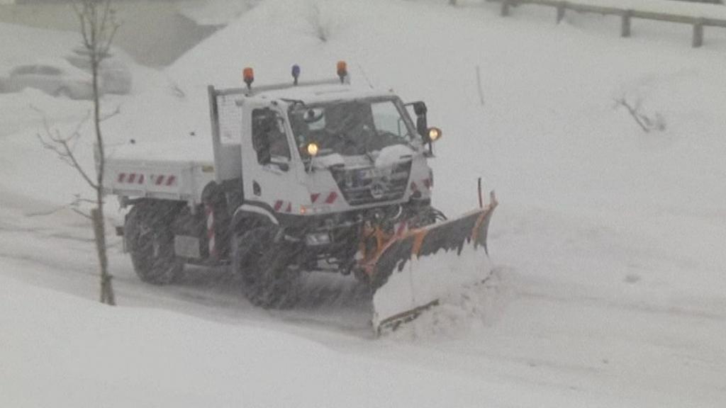 Sněhová kalamita ve Francii