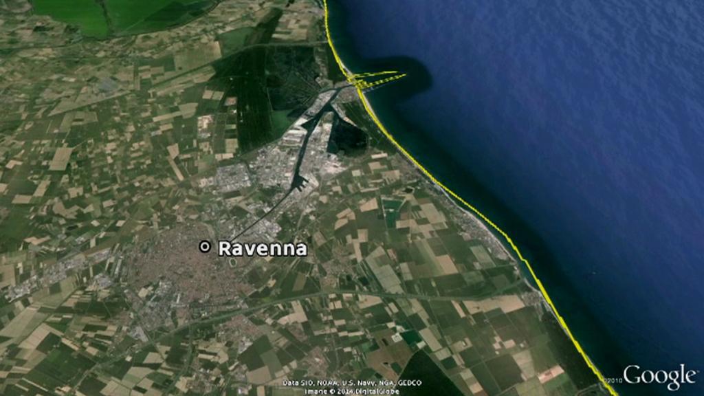 Severoitalské přístavní město Ravenna