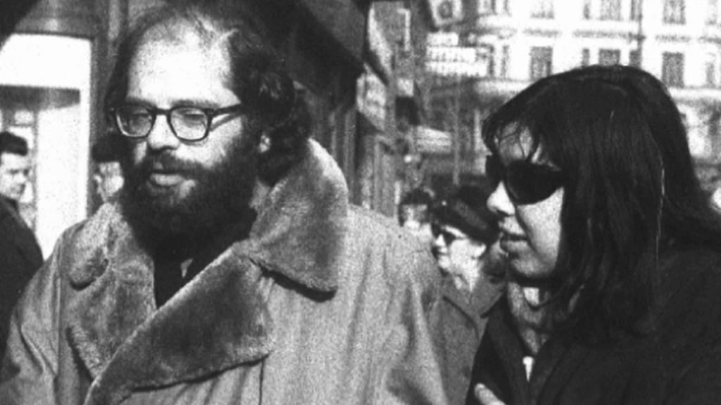 Vladimíra Čerepková a Allen Ginsberg v roce 1965