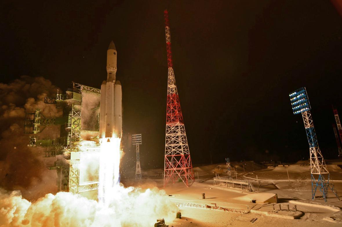 Zkouška ruské rakety Angara