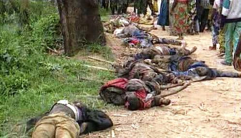 Oběti násilí v Africe