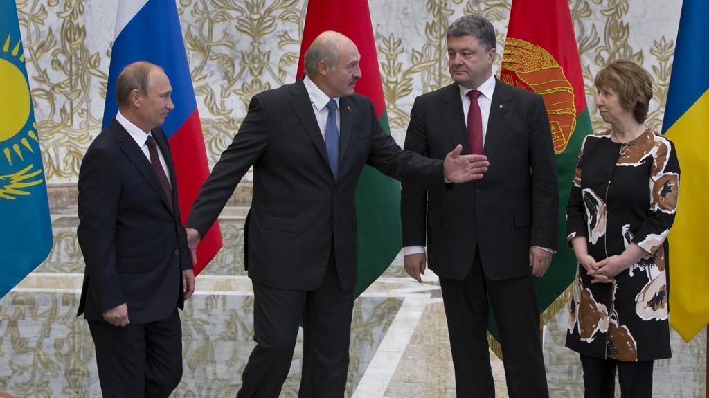 Mírové jednání v Minsku ze srpna 2014
