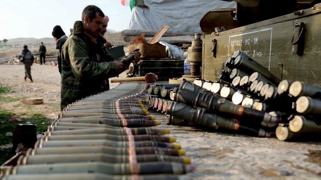 Ofenziva pešmergů v pohoří Sindžár