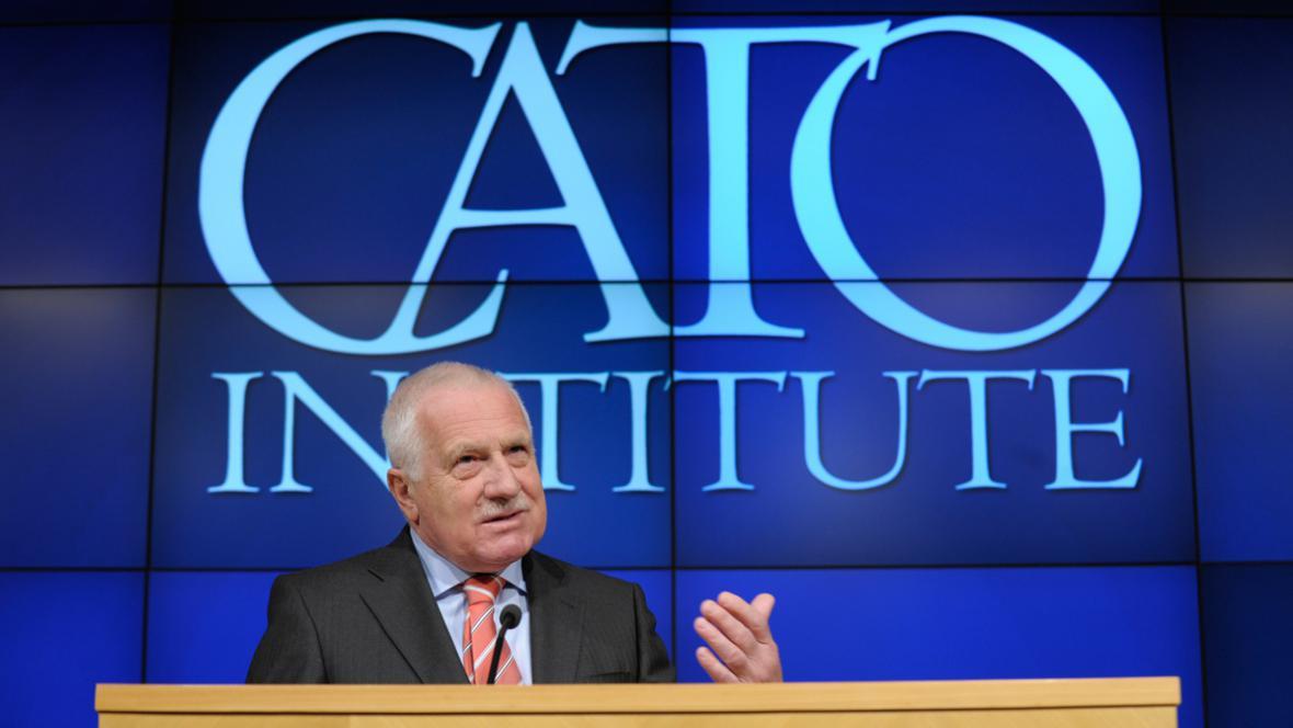 Václav Klaus v Cato Institute