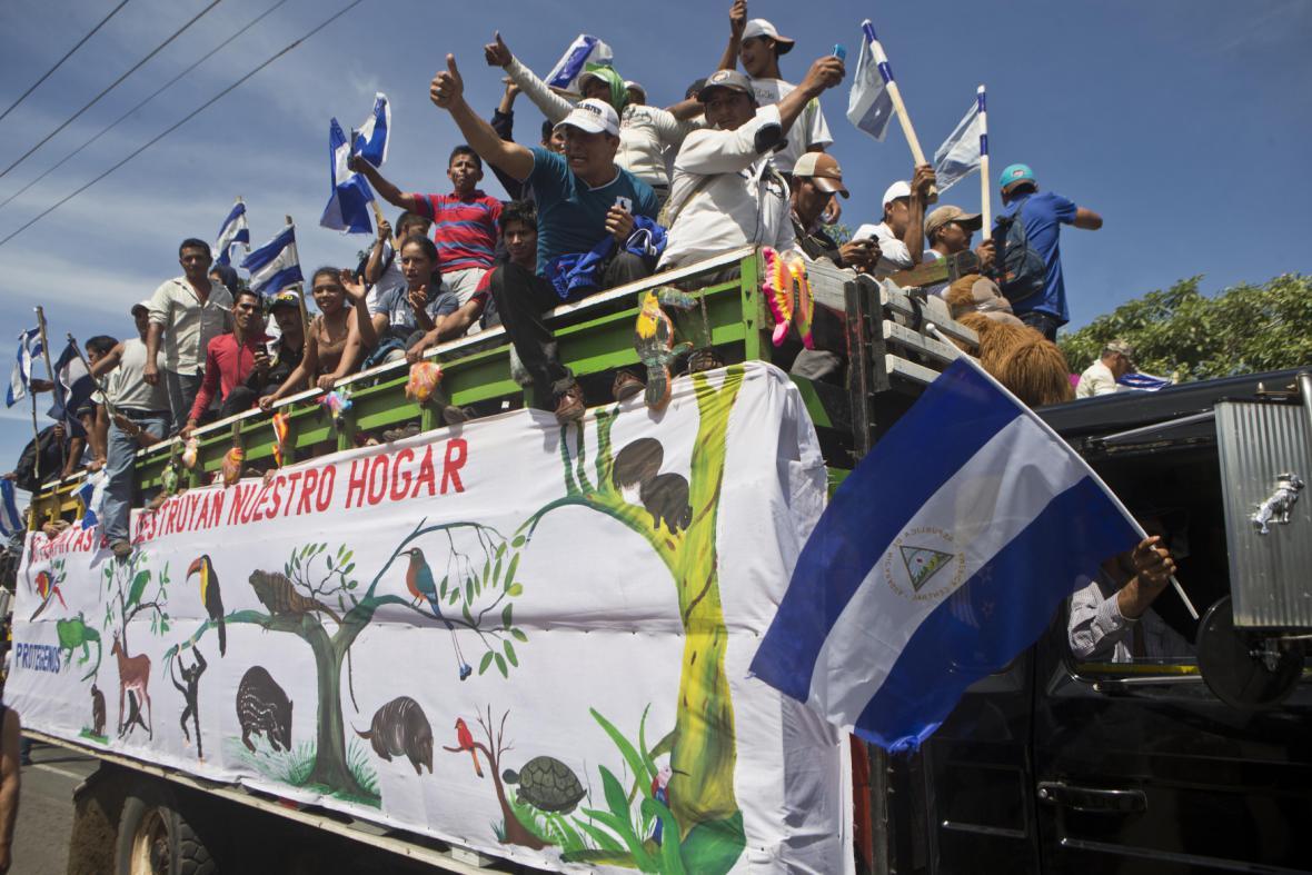Protesty v Nikaragui