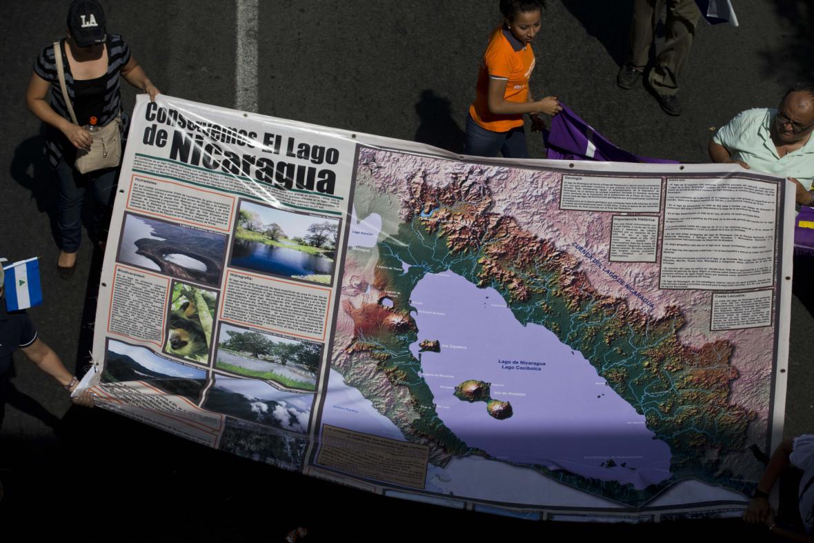 Protesty proti nikaragujskému průplavu