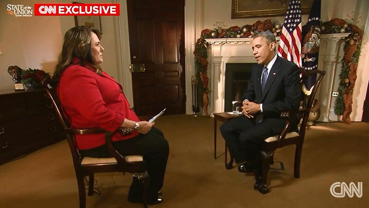 Barack Obama při rozhovoru pro CNN