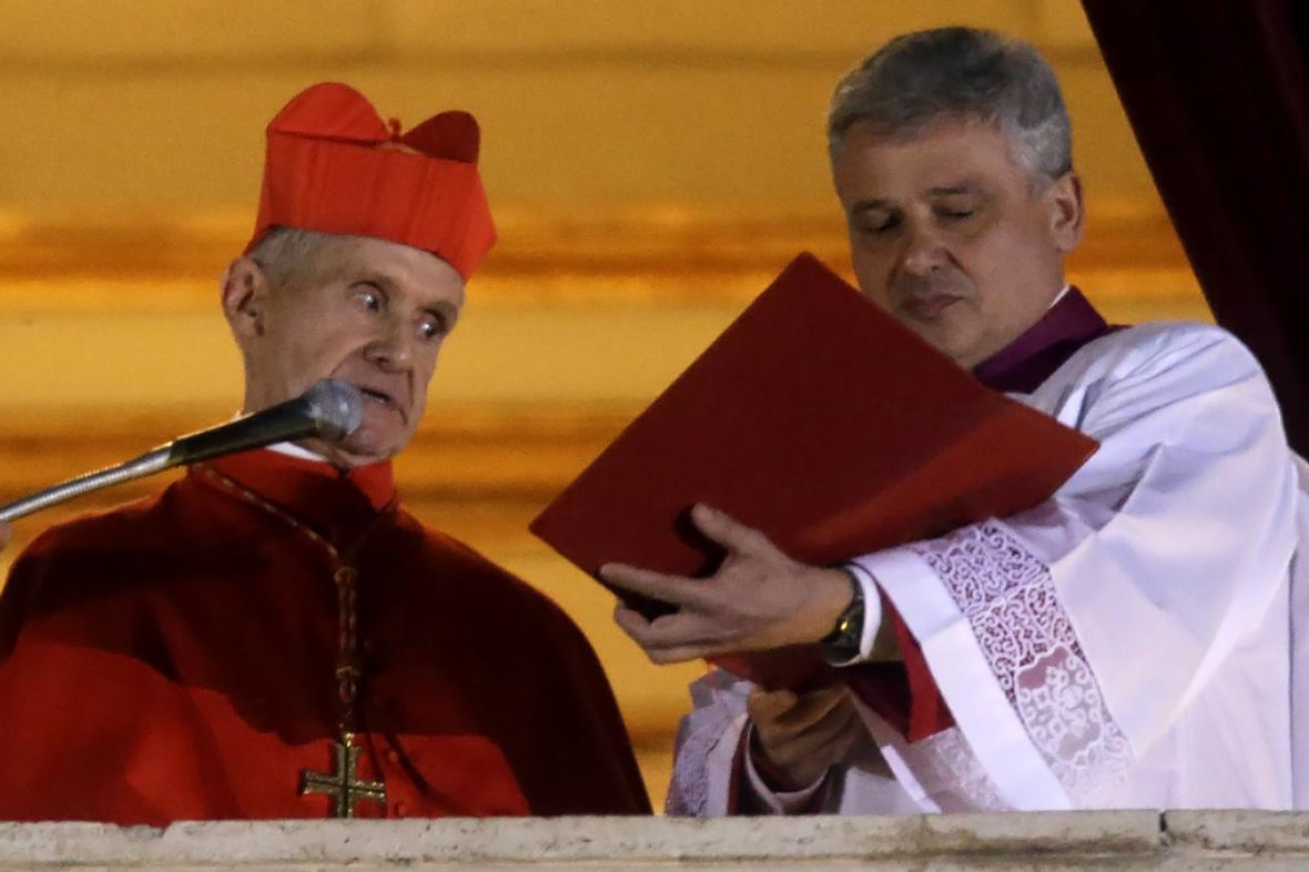 Jean-Louis Tauran oznamuje zvolení papeže Františka