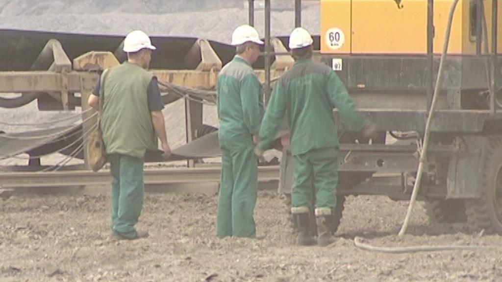 Pracovníci Severočeských dolů