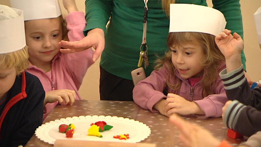 Děti na výstavě ve Ctěnicích